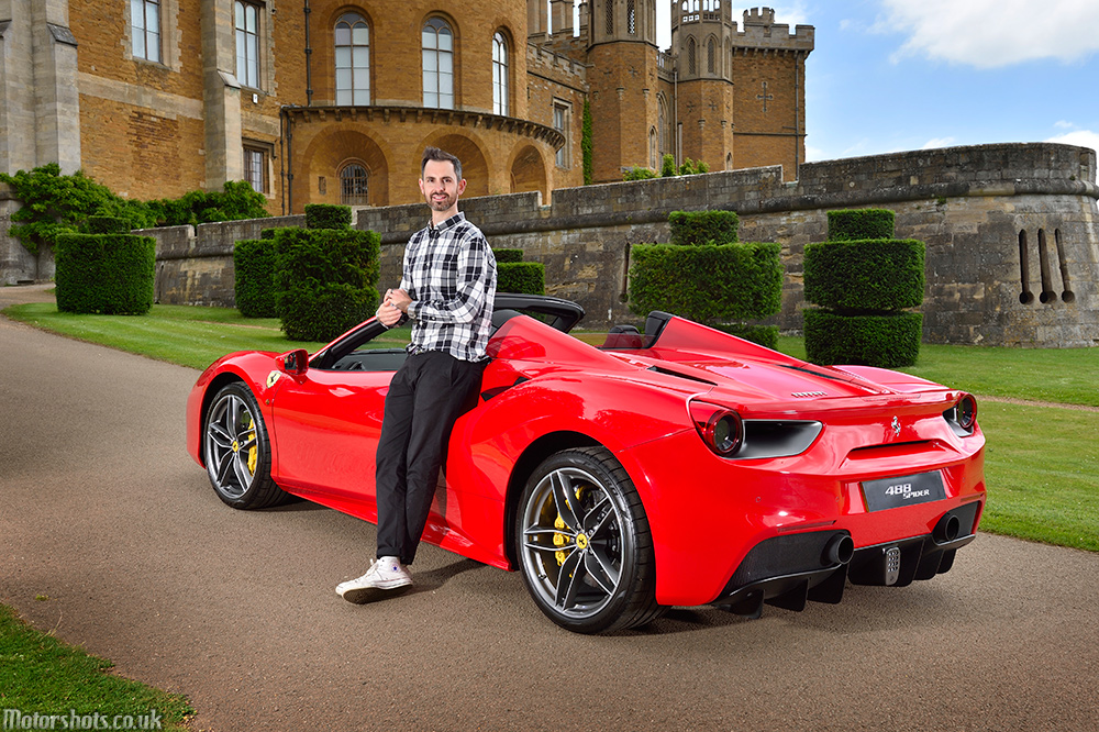 car photographer matt woods with jonny smith and new ferrari 488 photographs and commercial photography